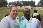 Jason Hussong and Don Cheadle in Rwanda Africa