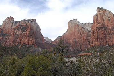 The view inside Utah's Zion National Park