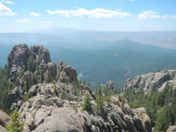 The view from the Devil's Head Fire Lookout