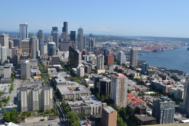Seattle Space Needle Downtown View