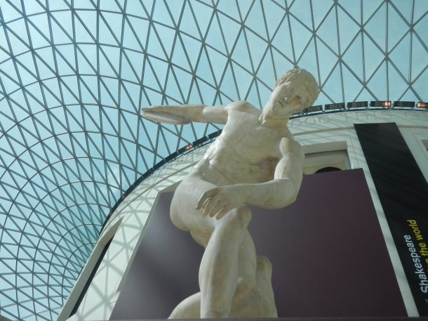 Discobolus and the British Museum's glass dome