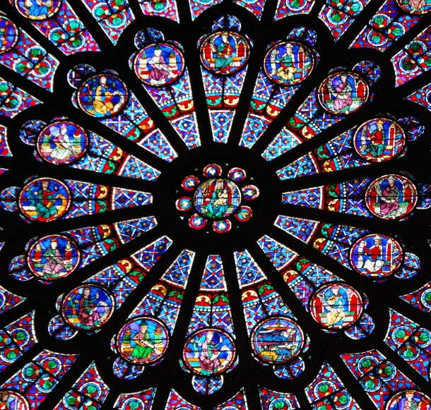 Notre Dame Stained Glass Window Paris France