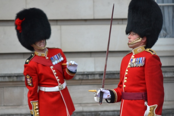 Inspection Time at the Changing of the Guard