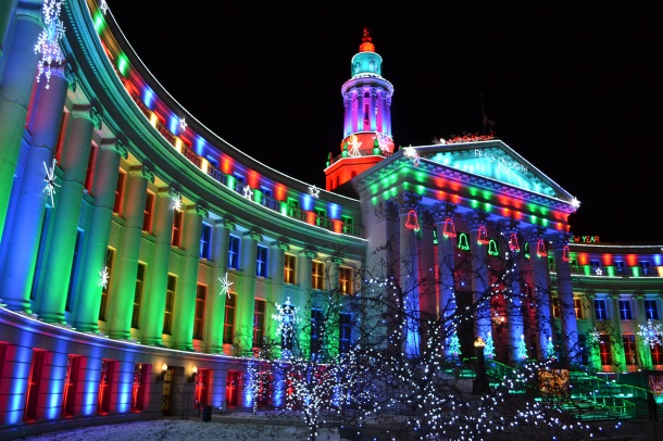 Denver City and County Building Lights from left