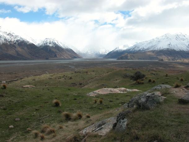 From atop Mount Sunday, I imagine the Uruk-hai marching toward Helms Deep
