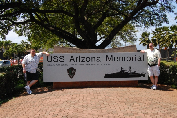 USS Arizona Memorial Sign Pearl Harbor Oahu Hawaii