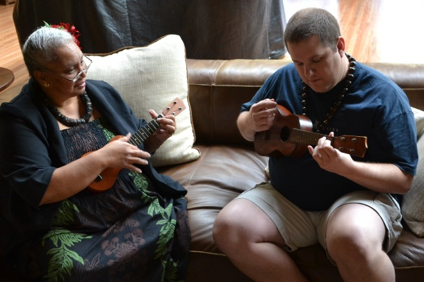 Learning to Play the Ukulele with Auntie Irene on Lanai
