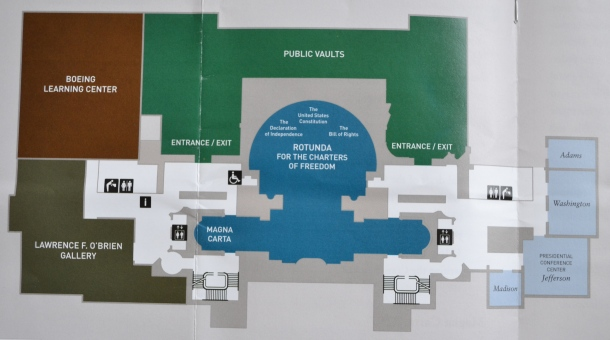 National Archives brochure floor plan