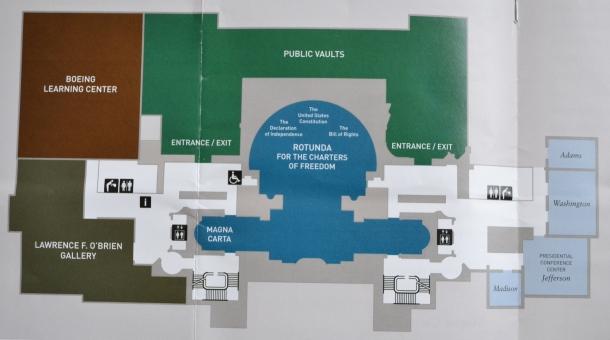 National Archives brochure floor plan