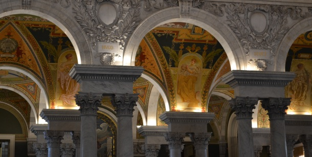 Arches above the Library of Congress lobby