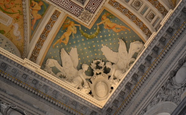 A corner relief in the Library of Congress