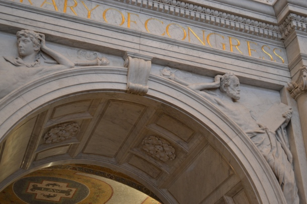The entrance arch inside the Library of Congress