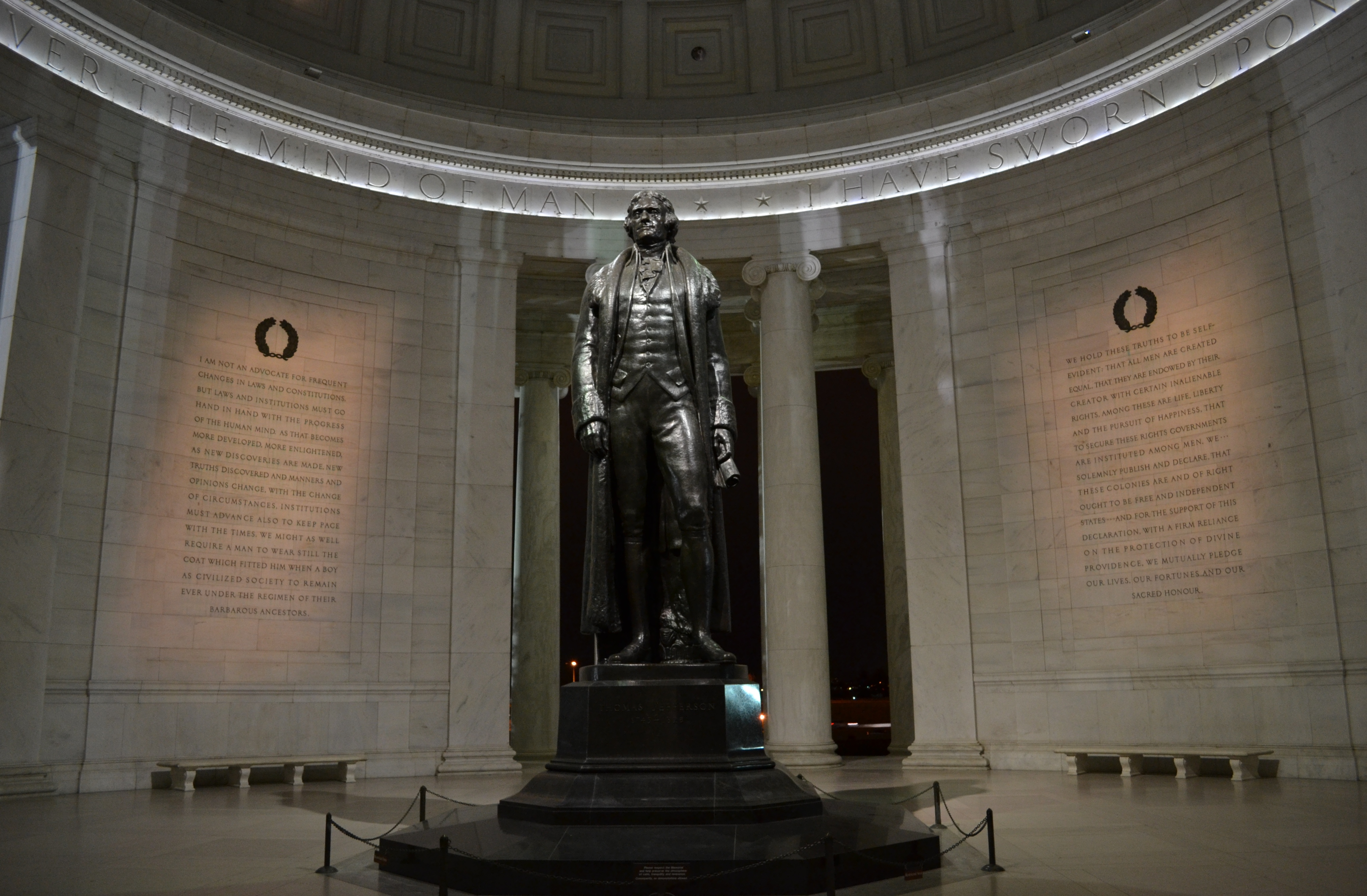 the national mall at night a photo essay jason s travels inside the jefferson memorial