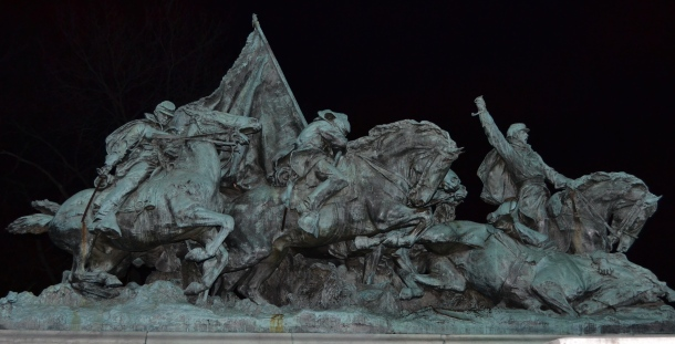 Part of the Ulysses S. Grant Memorial by the Capitol Reflecting Pool
