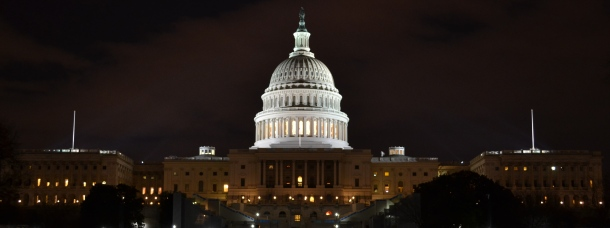 The United States Capitol at Night