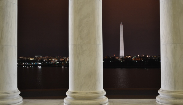 The Washington Monument from the Jefferson Memorial