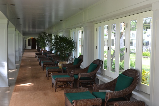 Four Seaons Koele Lodge Lounge Chairs Lanai Hawaii