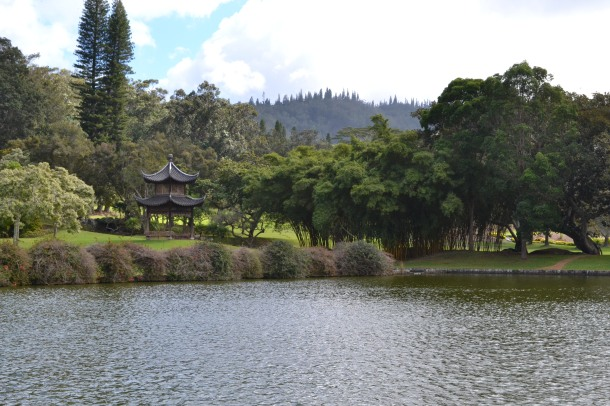 Four Seasons Koele Lodge Lake and Pagoda Lanai Hawaii