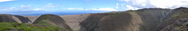 Koloiki Trail Hike Lanai Hawaii Panorama