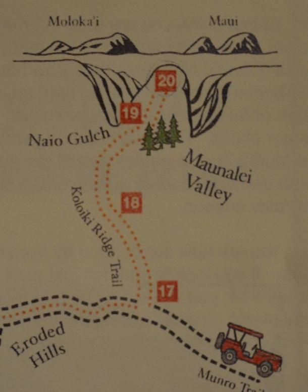 Koloiki Trail Map 3 Lanai Hawaii