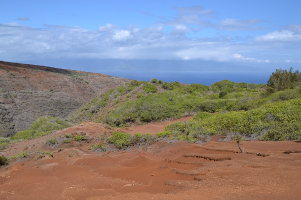 Koloiki Trail Naio Gulch and Molokai View Lanai Hawaii