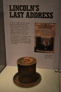 The hat Lincoln wore the night he was assassinated