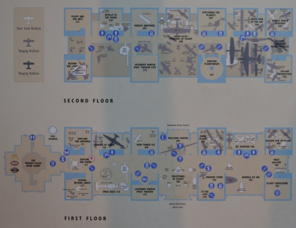 An Air and Space Museum map