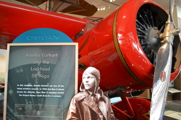 Amelia Earhart and her Vega