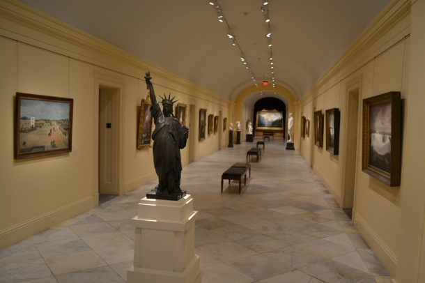 Hallway in the National Portrait Gallery
