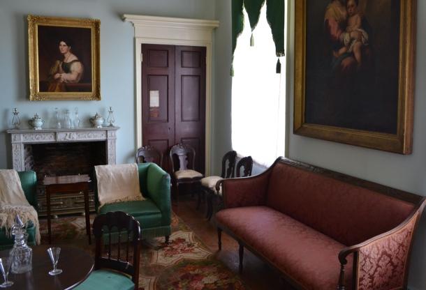A parlor room inside the Arlington House