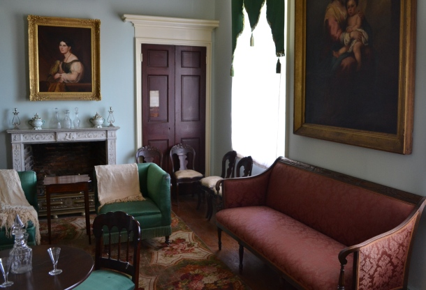 A parlor room inside the Arlington House
