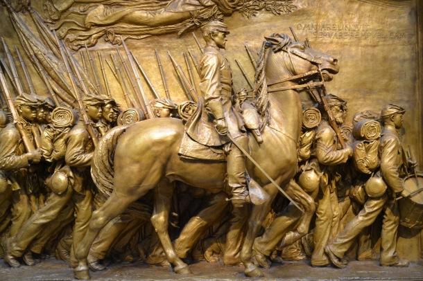 Augustus Saint-Gaudens' Shaw Memorial, 1900