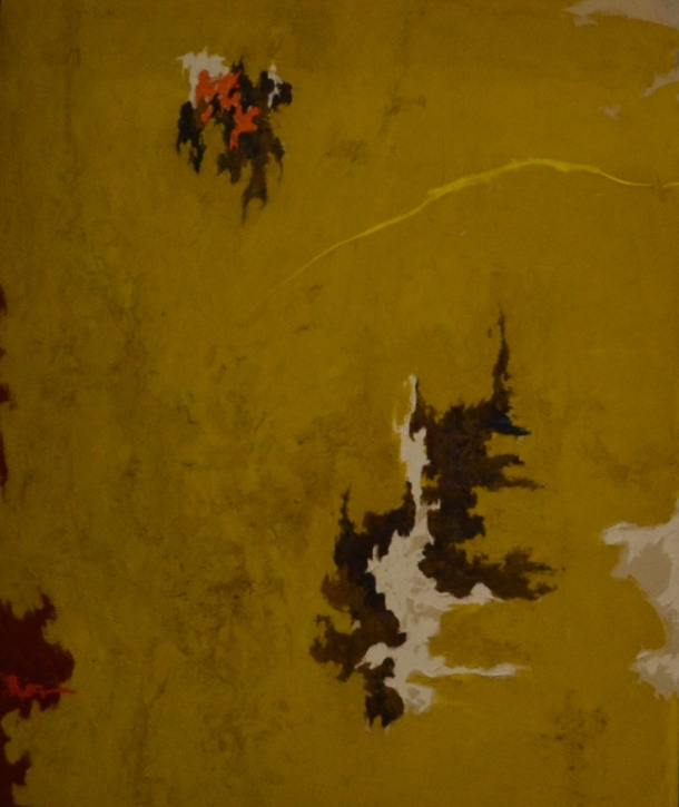 A painting by Clyfford Still