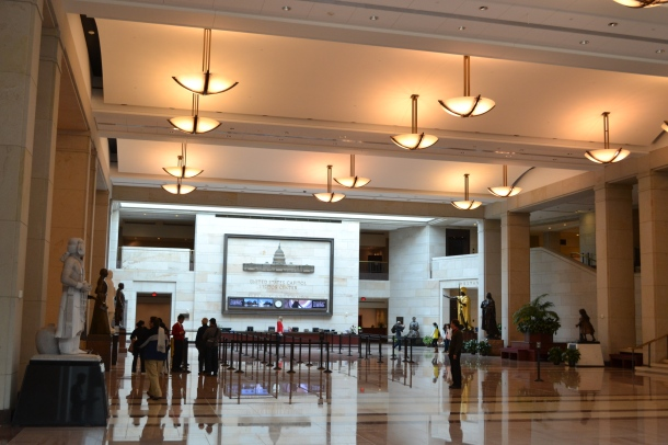 Emancipation Hall, the U.S. Capitol Visitor Center