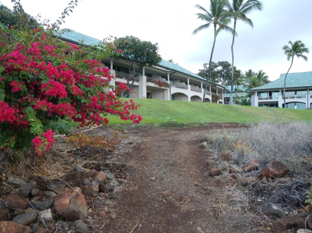 The Manele Bay Resort as seen from the Fisherman's Trail