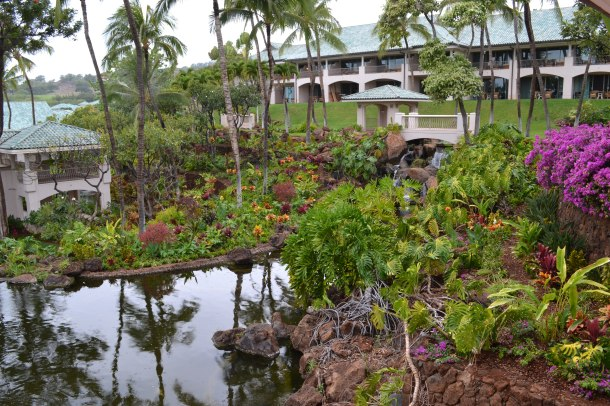 Manele Bay's courtyard gardens