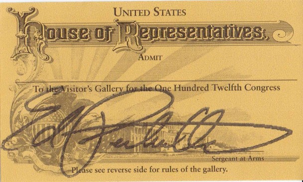 Ticket to the House of Representatives