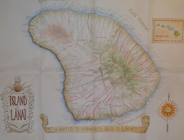 A map of Lanai's historic districts