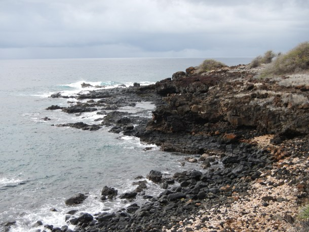 Lanai's rocky coastline from the Fisherman's Trail