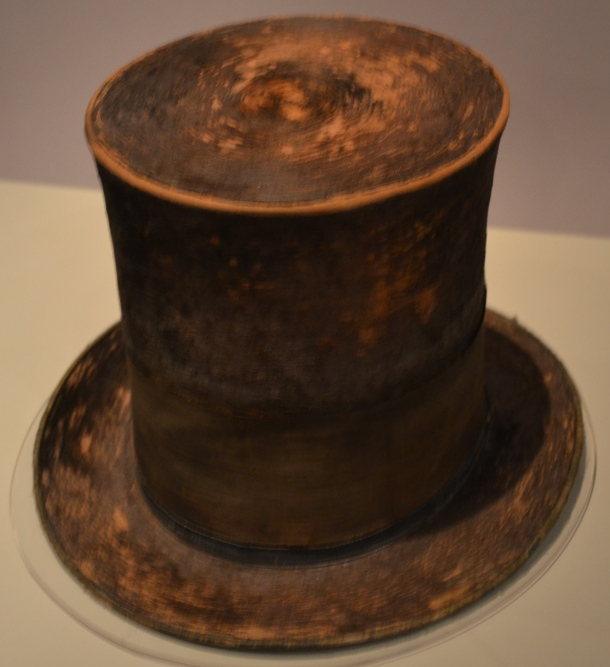 The hat President Lincoln wore the night he was assassinated