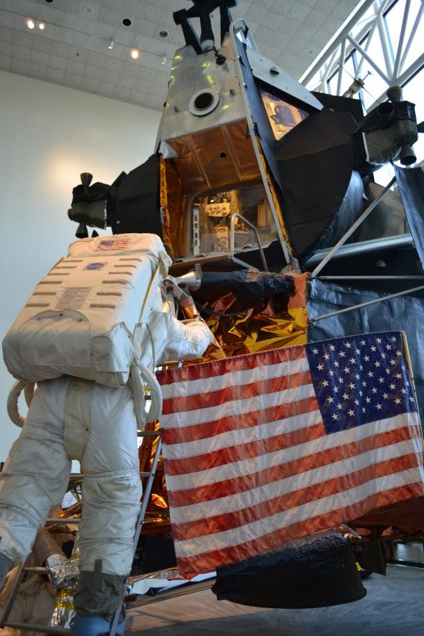 Climbing onto the lunar module