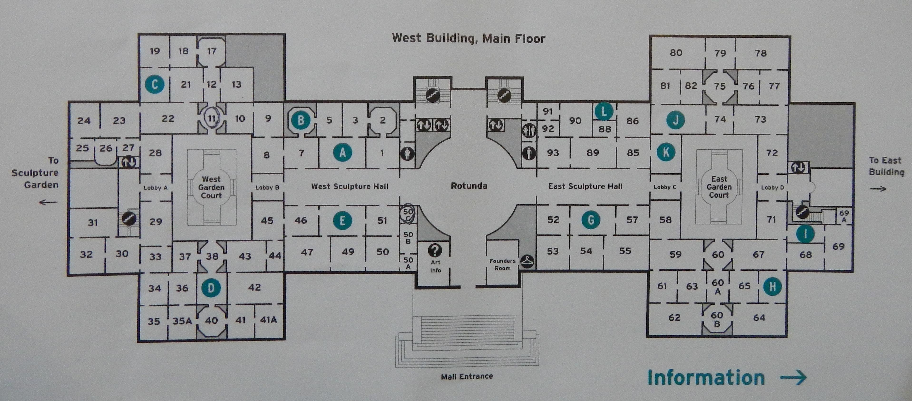 West Wing Floor Plan National Gallery Of Art Plan Www Pixshark Com Images
