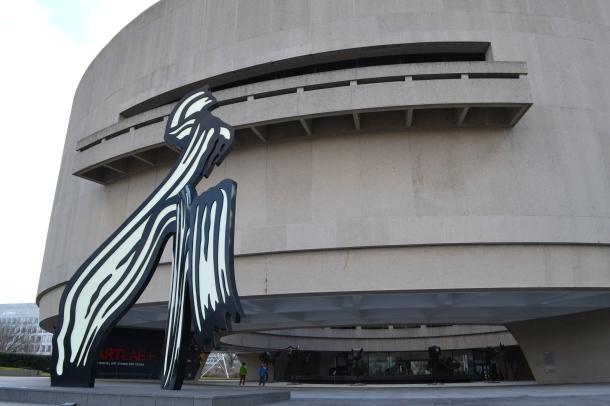 A Roy Lichtenstein sculpture outside the Hirshorn