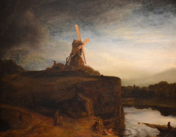 Rembrandt's The Mill, 1645, is in Gallery 48