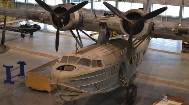 The restoration hangar