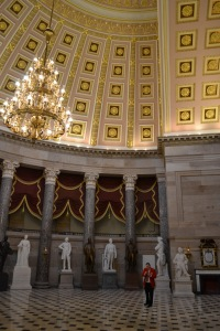Testing the acoustics in Statuary Hall