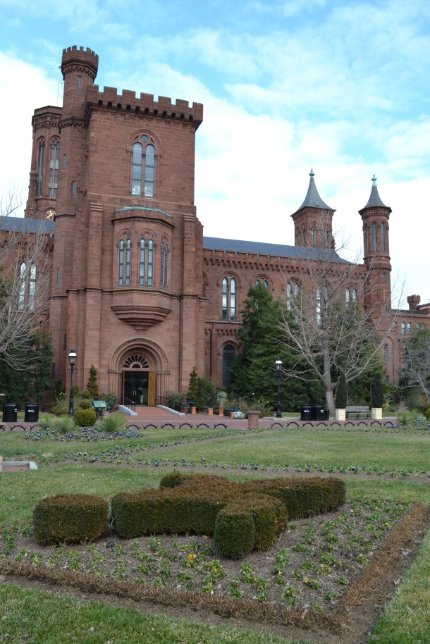 The Smithsonian Castle garden