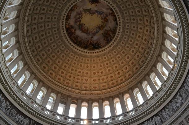 The rotunda's ceiling