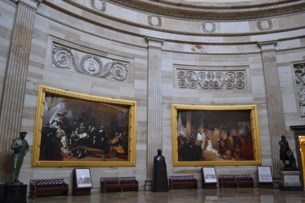 Paintings in the U.S. Capitol's Rotunda