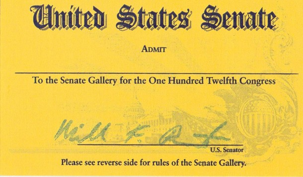Ticket to the U.S. Senate